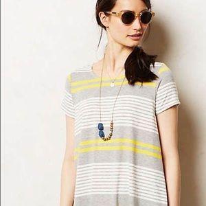 New$58 Anthropologie Puella swing stripe Tee Top S